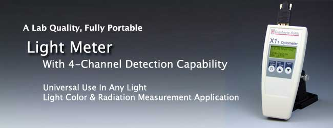 4 Channel Light Meter X1-1