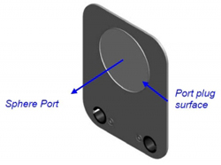The front side of the port plugs and port reducers conforms to that of sphere surface.