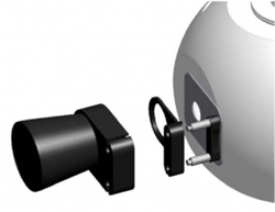 Light trap for the absorption of the directed portion of the reflection in an 8°/d measurement setup and that of the transmission in 0°/d transmission measurements of transparent samples respectively.